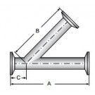 45° Lateral, Clamp Ends